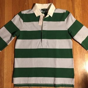J Crew Rugby Style Long Sleeve Shirt
